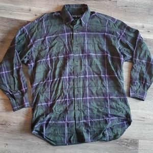 Ralph Lauren Blake Plaid Long Sleeve Button Up